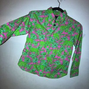 lilly pulitzer via palm beach button up blouse
